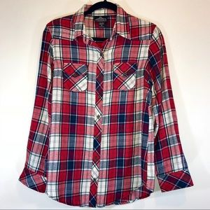 [Nordstrom] Angie Plaid Flannel Button Down -#1084